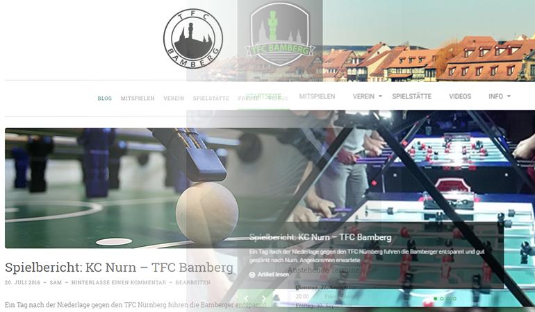 Redesign TFC-Bamberg.de